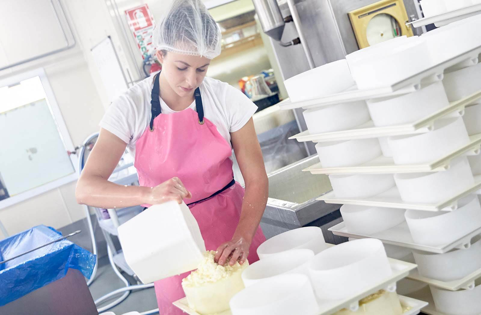 Worker in a South Waikato Dairy Factory.